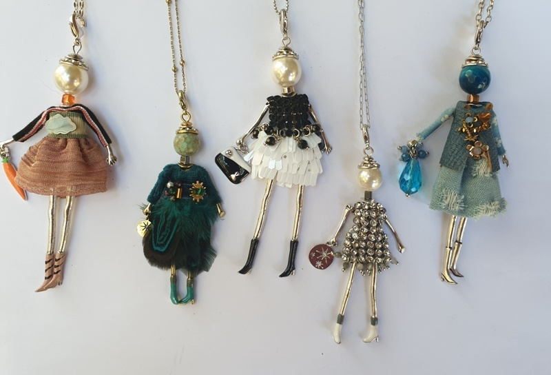 Frech Doll Pendant Necklace